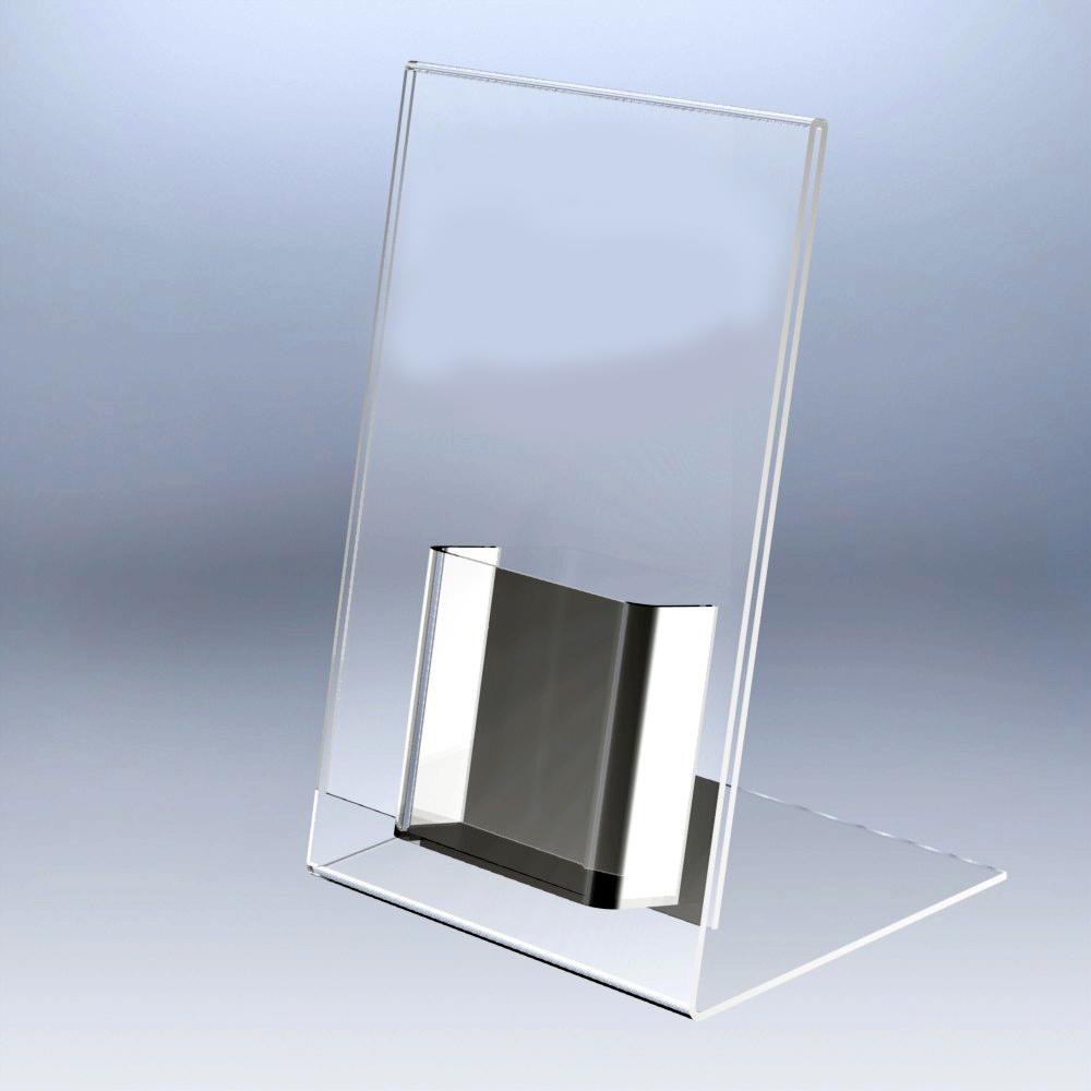 porta-folleto plastico a4 con cajetin